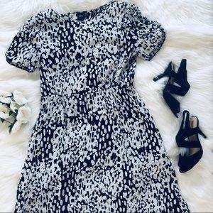 ASOS | Black & White Spotted Midi Dress